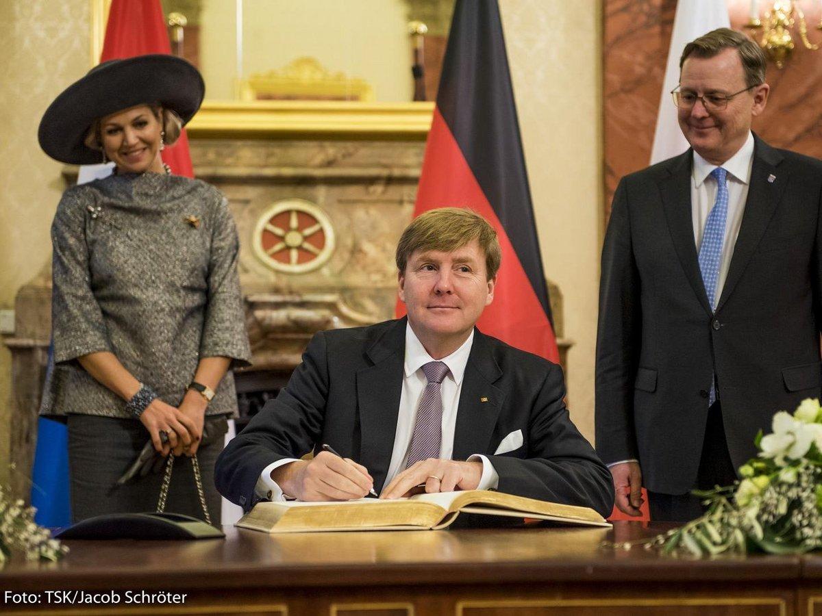Seine Majestät König Willem-Alexander und Ihre Majestät Königin Máxima während ihres Arbeitsbesuches in Thüringen