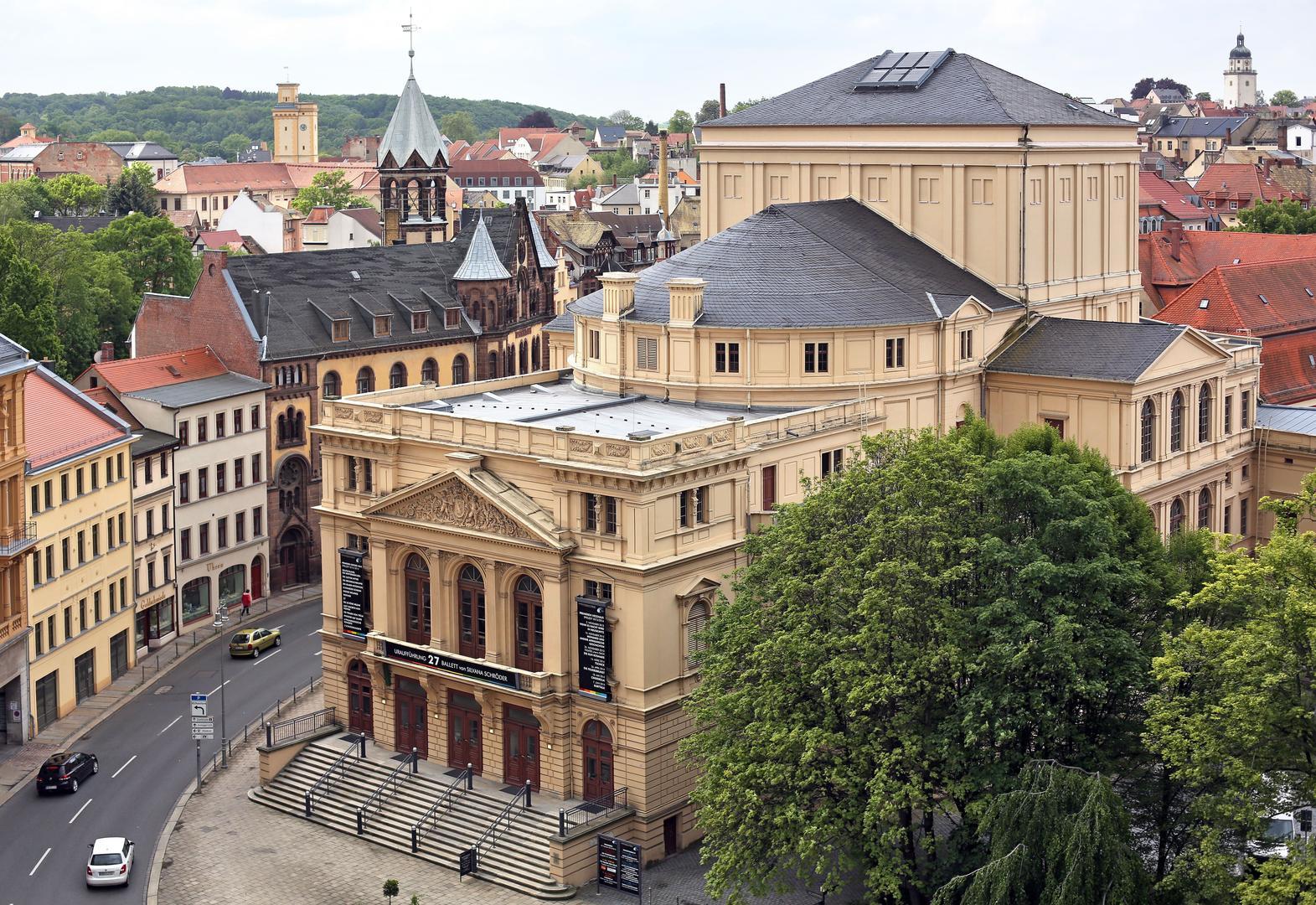 Das Theater Altenburg von oben fotografiert.